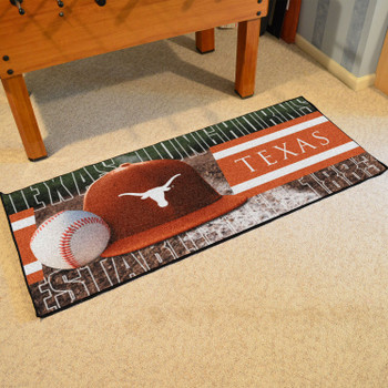 "30"" x 72"" Texas Baseball Style Rectangle Runner Mat"