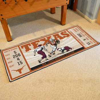 "30"" x 72"" University of Texas Ticket Rectangle Runner Mat"