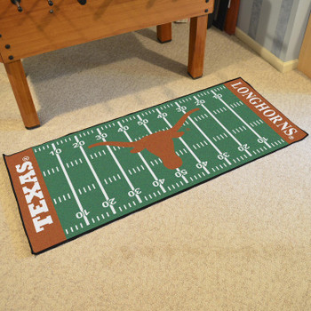 "30"" x 72"" University of Texas Football Field Rectangle Runner Mat"
