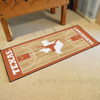 "30"" x 72"" University of Texas NCAA Basketball Rectangle Runner Mat"