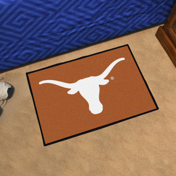 "19"" x 30"" University of Texas Orange Rectangle Starter Mat"