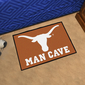 "19"" x 30"" University of Texas Man Cave Starter Orange Rectangle Mat"