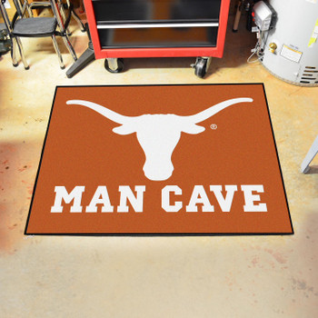 "33.75"" x 42.5"" University of Texas Man Cave All-Star Orange Rectangle Mat"