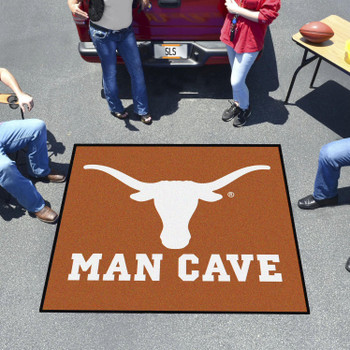 "59.5"" x 71"" University of Texas Man Cave Tailgater Orange Rectangle Mat"