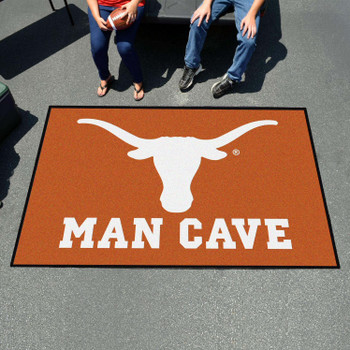 "59.5"" x 94.5"" University of Texas Man Cave Orange Rectangle Ulti Mat"