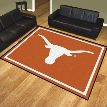 8' x 10' University of Texas Orange Rectangle Rug