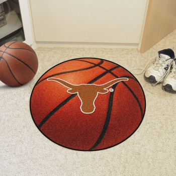 "27"" University of Texas Basketball Style Round Mat"