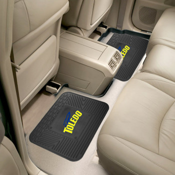 University of Toledo Heavy Duty Vinyl Car Utility Mats, Set of 2