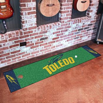 "18"" x 72"" University of Toledo Putting Green Runner Mat"