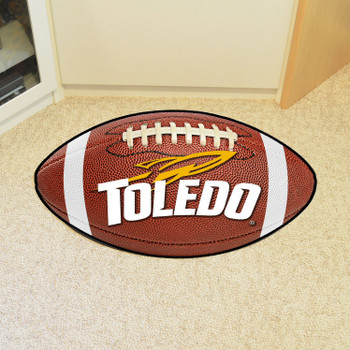 "20.5"" x 32.5"" University of Toledo Football Shape Mat"