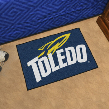 "19"" x 30"" University of Toledo Navy Blue Rectangle Starter Mat"