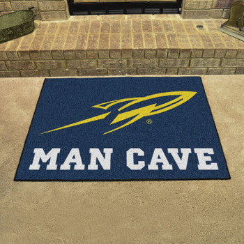 "33.75"" x 42.5"" University of Toledo Man Cave All-Star Navy Blue Rectangle Mat"