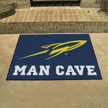 "33.75"" x 42.5"" University of Toledo Man Cave All-Star Navy Blue Rectangle Mat"