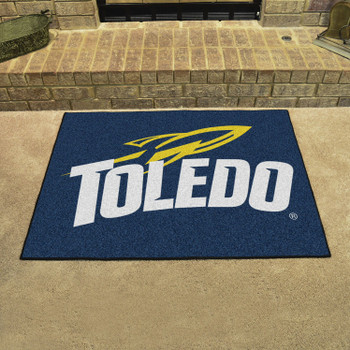 "33.75"" x 42.5"" University of Toledo All Star Navy Blue Rectangle Mat"