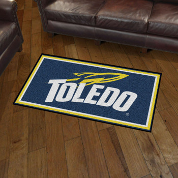 3' x 5' University of Toledo Blue Rectangle Rug