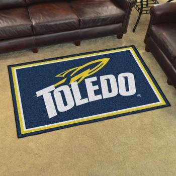 4' x 6' University of Toledo Navy Blue Rectangle Rug
