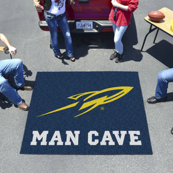 "59.5"" x 71"" University of Toledo Man Cave Tailgater Navy Blue Rectangle Mat"