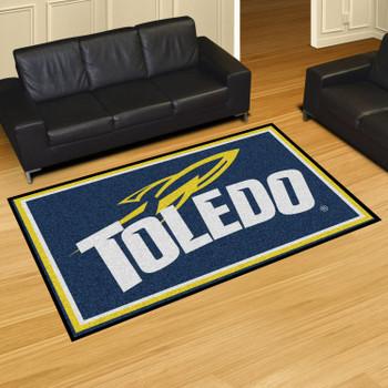 5' x 8' University of Toledo Navy Blue Rectangle Rug