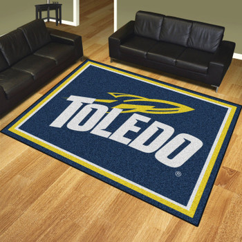 8' x 10' University of Toledo Navy Blue Rectangle Rug