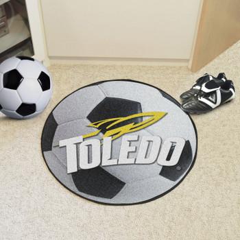 "27"" University of Toledo Soccer Ball Round Mat"
