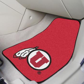 University of Utah Red Carpet Car Mat, Set of 2