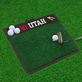 "20"" x 17"" University of Utah Golf Hitting Mat"