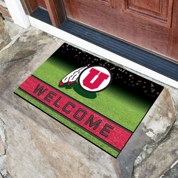"18"" x 30"" University of Utah Crumb Rubber Door Mat"