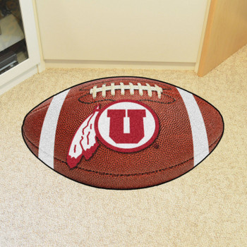 "20.5"" x 32.5"" University of Utah Football Shape Mat"
