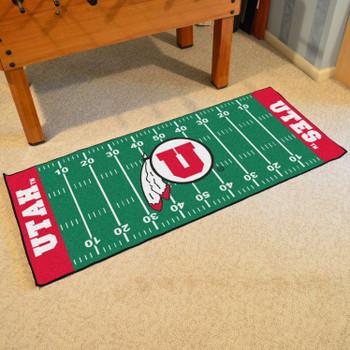 """30"""" x 72"""" University of Utah Football Field Rectangle Runner Mat"""