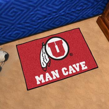 "19"" x 30"" University of Utah Man Cave Starter Red Rectangle Mat"