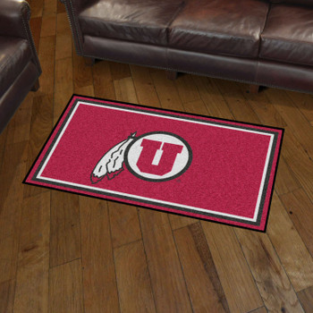 3' x 5' University of Utah Red Rectangle Rug