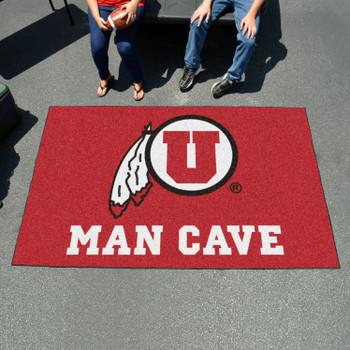 """59.5"""" x 94.5"""" University of Utah Man Cave Red Rectangle Ulti Mat"""