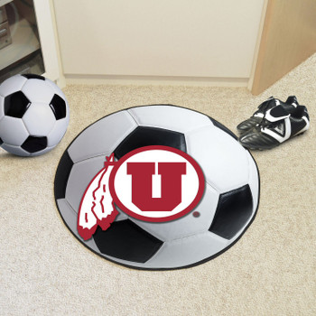 "27"" University of Utah Soccer Ball Round Mat"