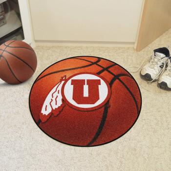 "27"" University of Utah Basketball Style Round Mat"