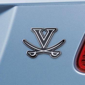University of Virginia Chrome Emblem, Set of 2