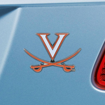 University of Virginia Navy Blue Color Emblem, Set of 2