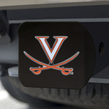 University of Virginia Hitch Cover - Color on Black