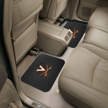 University of Virginia Heavy Duty Vinyl Car Utility Mats, Set of 2