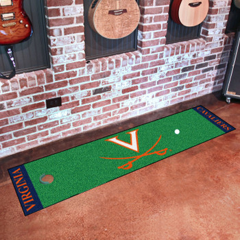 "18"" x 72"" University of Virginia Putting Green Runner Mat"