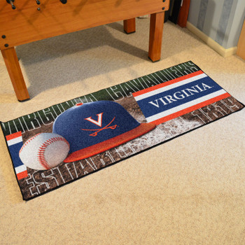 "30"" x 72"" Virginia Baseball Style Rectangle Runner Mat"
