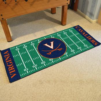 """30"""" x 72"""" University of Virginia Football Field Rectangle Runner Mat"""