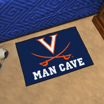 "19"" x 30"" University of Virginia Man Cave Starter Navy Blue Rectangle Mat"