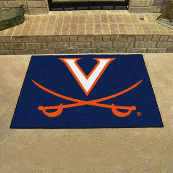 "33.75"" x 42.5"" University of Virginia All Star Navy Blue Rectangle Mat"