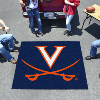 "59.5"" x 71"" University of Virginia Navy Blue Tailgater Mat"