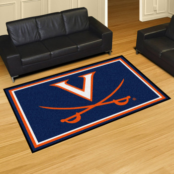5' x 8' University of Virginia Navy Blue Rectangle Rug