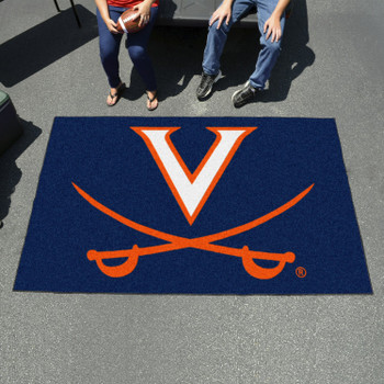 "59.5"" x 94.5"" University of Virginia Navy Blue Rectangle Ulti Mat"