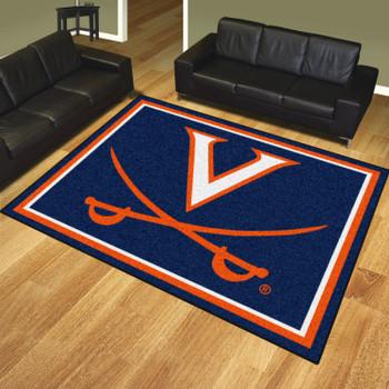 8' x 10' University of Virginia Navy Blue Rectangle Rug