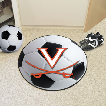 "27"" University of Virginia Soccer Ball Round Mat"