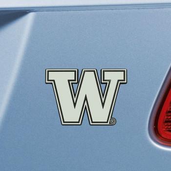 University of Washington Chrome Emblem, Set of 2