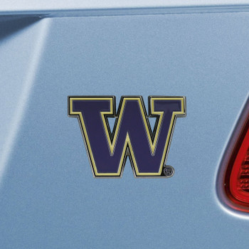 University of Washington Purple Color Emblem, Set of 2
